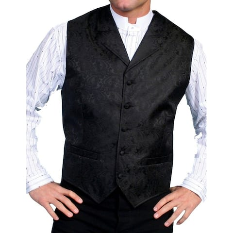 Scully Western Vest Mens Paisley Cover Button Formal Polyester