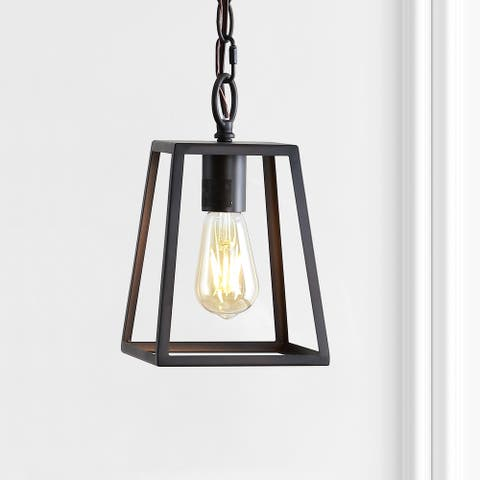 """Ira 6.25"""" Metal LED Pendant, Oil Rubbed Bronze by JONATHAN Y"""