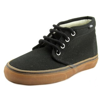 Vans Chukka Boot Youth Round Toe Canvas Black Fashion Sneakers
