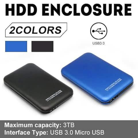 2.5 Inch 3TB USB 3.0 External Hard Drives Case Portable Desktop Mobile Hard Disk Case (Case Only)