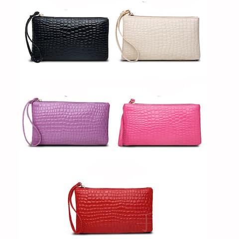 Women Fashion Faux Leather Purse Mini Handbag Cash Coin Storage Long Wallet