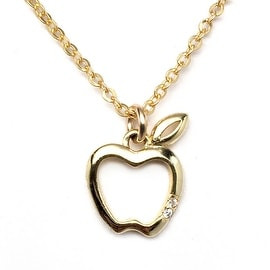 Julieta Jewelry Apple Outline Charm Necklace