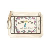 Betsey Johnson Womens Kitsch Wristlet Handbag Metallic Printed - MEDIUM