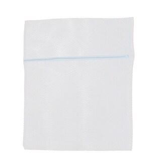 Household Polyester Meshy Zipper Closure Foldable Washing Bag Holder 40 x 30cm