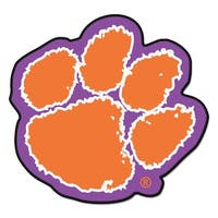 NCAA Clemson University Tigers Mascot Novelty Logo Shaped Area Rug