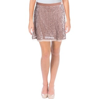 Free People Womens Pencil Skirt Sequined Mini