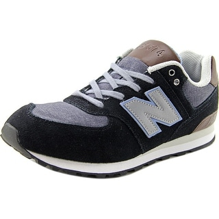 New Balance KL574 Youth  Round Toe Suede Black Sneakers