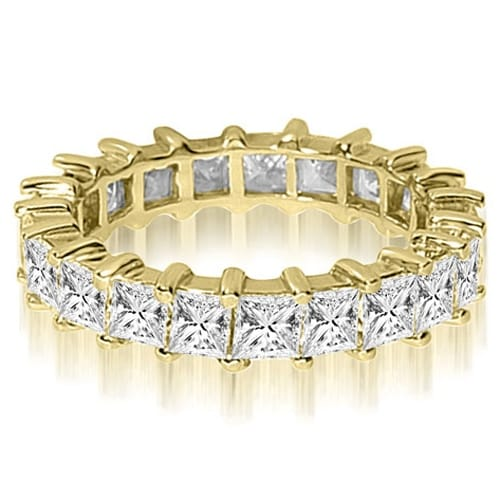 2.50 cttw. 14K Yellow Gold Princess Shared-Prong Diamond Eternity Ring,HI,SI1-2