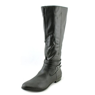 Style & Co Fridaa Women W Round Toe Synthetic Black Knee High Boot