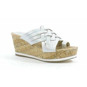 Donald J Pliner Women's Flore Textured Metallic Wedge Sandal