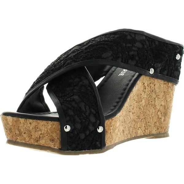 Anne Marie Womens Devon-7 Fashion Wedge Platform Sandals