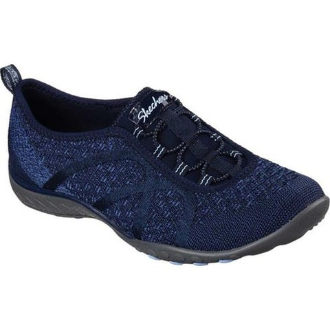 Skechers Women's Relaxed Fit Breathe Easy Fortune-Knit Slip-On Navy