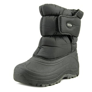 Sporto Quall Youth Round Toe Canvas Black Snow Boot