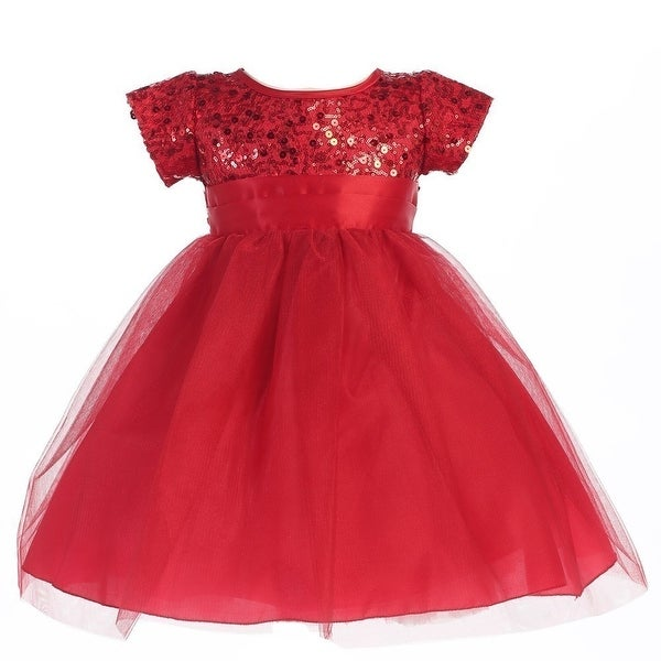 da8a352d8f1 Shop Little Girls Red Sequins Bodice Tulle Sparkly Christmas Dress 2T-6 -  Free Shipping Today - Overstock - 18172624