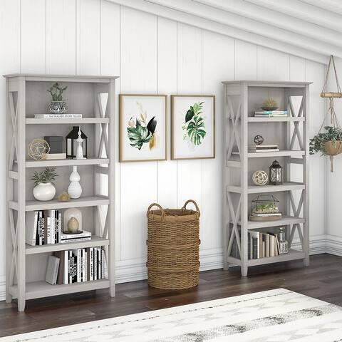 Key West 5 Shelf Bookcase Set by Bush Furniture