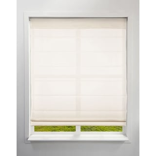 Link to Arlo Blinds Ivory Light Filtering Cordless Lift Fabric Roman Shades Similar Items in Blinds & Shades