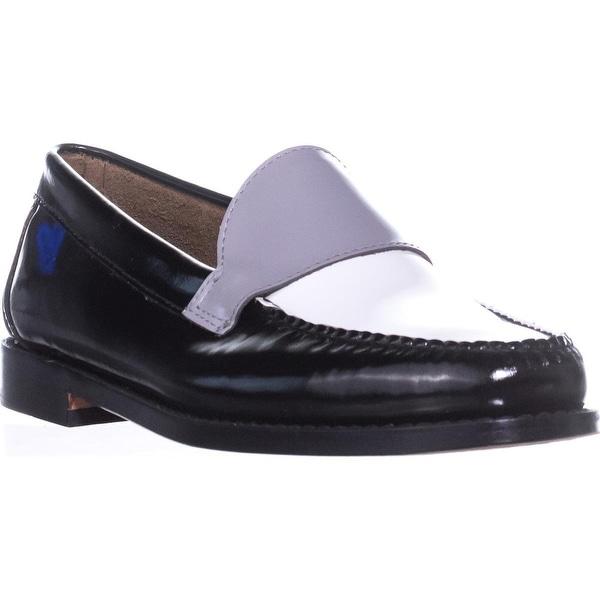 G.H. Bass & Co. Wylie Oxford Flats, Black/White/Grey