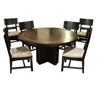 "Transitions 60"" Round Dining Table Set with 6 Chairs"