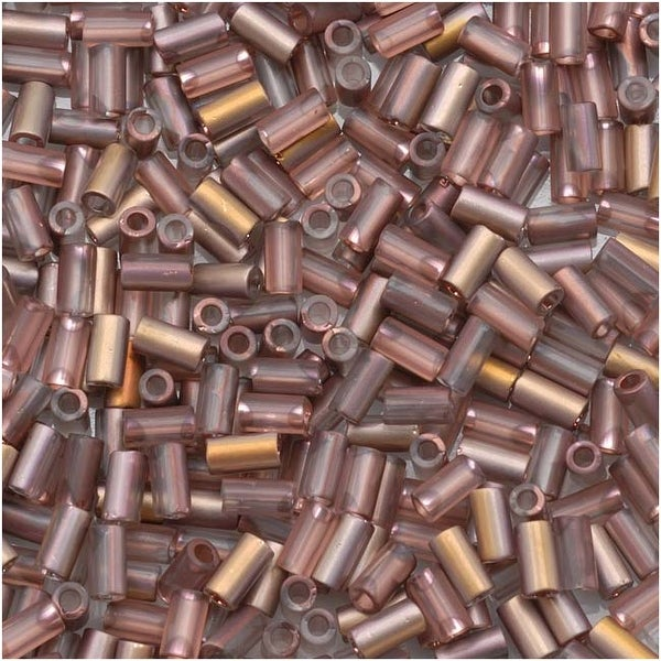 Toho Bugle Tube Beads Size 1 / 2x3mm Hybrid Frosted Apollo 8 Grams