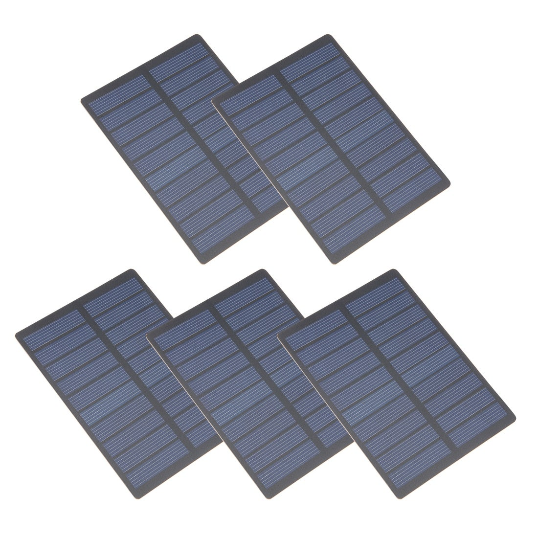 5Pcs 1.3W 5V Micro Solar Panel Module DIY Polysilicon for Phone Toys Charger