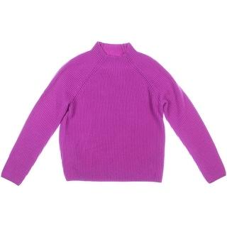 Lauren Ralph Lauren Womens Wool Ribbed Pullover Sweater - L