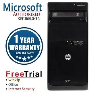 Refurbished HP Pro 3405 Tower AMD A6-3620 2.3G 4G DDR3 2TB DVD WIN 10 Pro 64 1 Year Warranty - Black