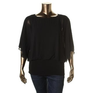 MSK Womens Chiffon Blouson Dress Top - S