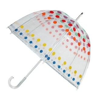 Totes Classic Clear Dome Polka Dot Bubble Umbrella - One size