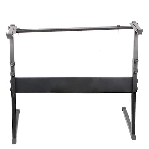 Glarry Z-Shape Adjustable Electric Piano Rack Stand - Black