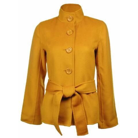 Sutton Studio Women's Cashmere & Wool Flare Sleeve Jacket Petites