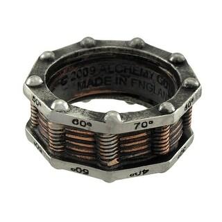 Steampunk Hi-Voltage Toric Generator Ring Pewter Ring