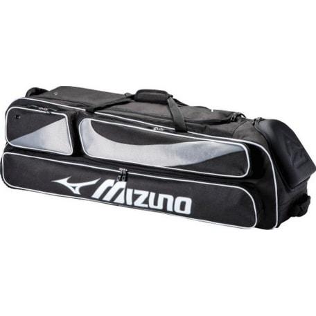 b2e7b23a8daa Mizuno MX Elite Wheeled Duffle Bag Baseball Softball Team Duffel 4 Bats  360266