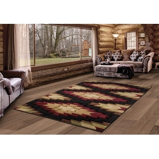 Link to Westfield Home Graham Casita Multi Hand-Carved Area Rug Similar Items in Rugs