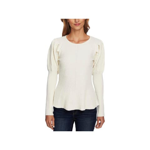 CeCe Womens Sweater Textured Long Sleeves