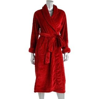 Natori Womens Divine Velour Long Sleeves Kimono Robe - XS