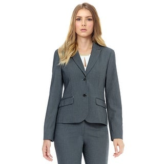 Calvin Klein Luxe Stretch Two Button Jacket Blazer