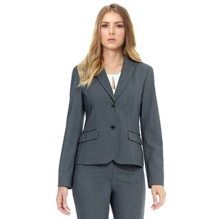 Calvin Klein Petite Luxe Stretch Two Button Jacket Blazer