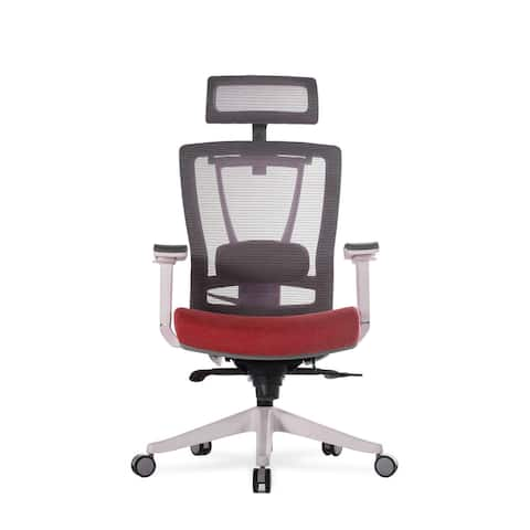 """Vifah A73 Autonomous Smart Office 32"""" Wide Leather Mesh Full Back Adjustable Office Chair with Extended Weight Limit"""