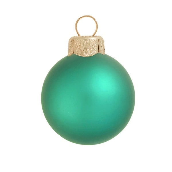 "2ct Matte Soft Green Glass Ball Christmas Ornaments 6"" (150mm)"