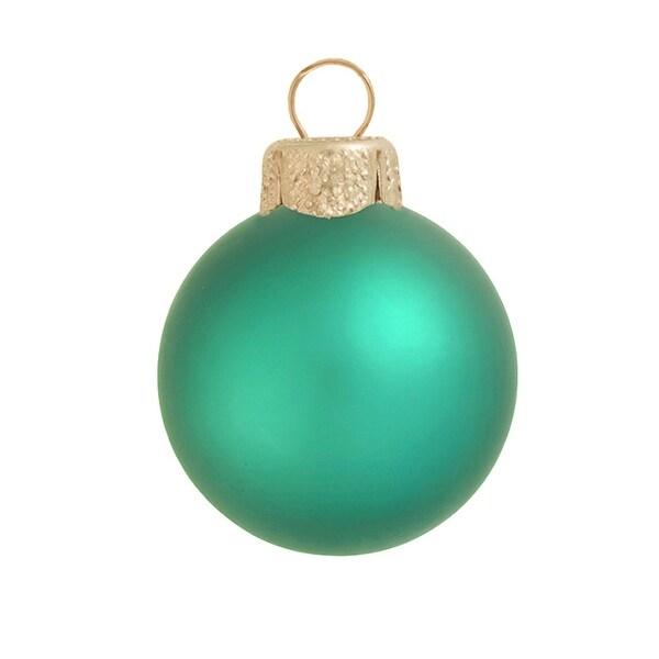 "40ct Matte Soft Green Glass Ball Christmas Ornaments 1.5"" (40mm)"