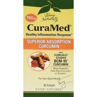 Terry Naturally CuraMed 750 mg - 60 Softgels - Healthy Inflammation Response - Superior Absorption Curcumin - Non-GMO