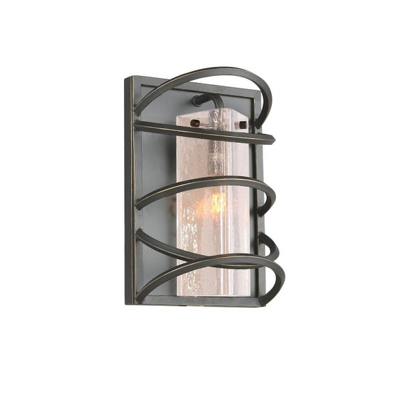 Woodbridge Lighting 12541-C40432 Loop 1 Light Wall Sconce - Black