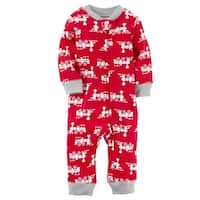 Carter's Baby Boys' Zip-Up Train Cotton Sleep & Play, 3 Months - trains