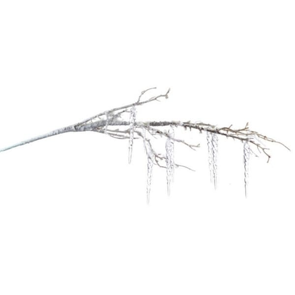 """34"""" Winter Light Artificial Christmas Branch with Snow and Icicles"""
