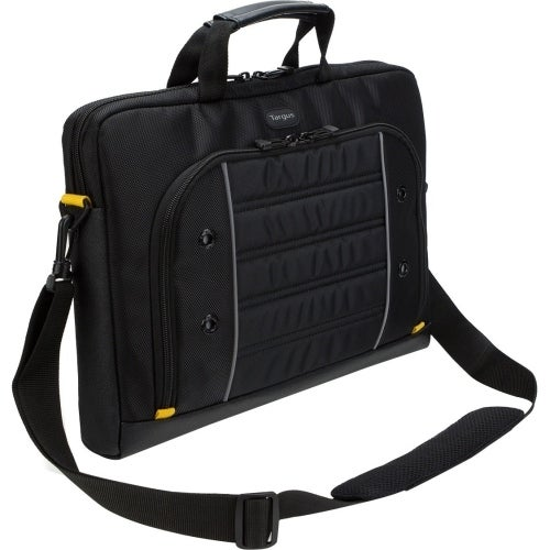 """Targus TSS874 Targus Drifter Carrying Case (Briefcase) for 15.6"" Notebook - Black, Gray - Weather Resistant - Trolley"