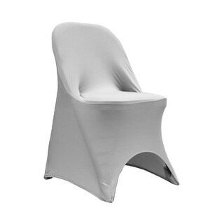 Folding Spandex Chair Cover Fits: Metal or Samsonite Folding Chairs - Silver
