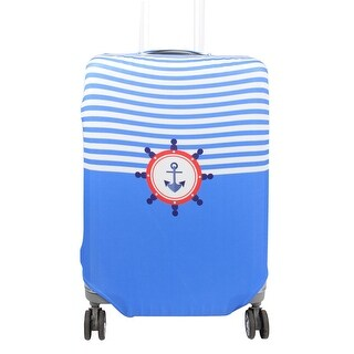 Unique BargainsSuitcase Polyester Navy Style Design Elastic Cover 26-38 Inch SAFEBET Authorized