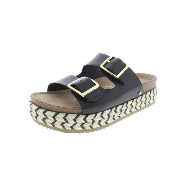 17a05f538145 Sam Edelman Womens Oakley Espadrilles Leather Sandals - 9 Medium (B