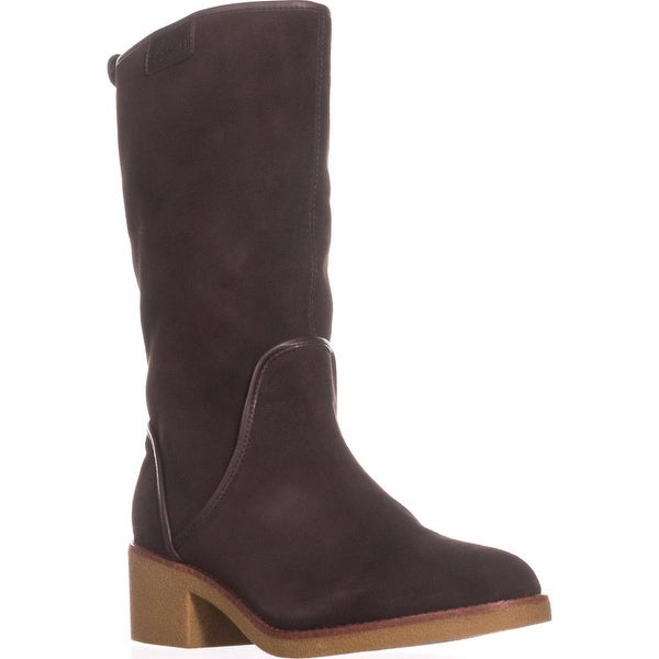 Coach Palmer Pull-On Knee High Boots, Chestnut
