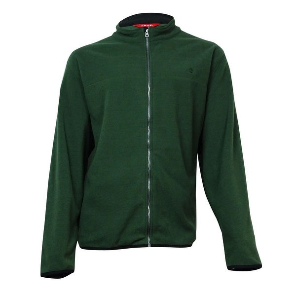 IZOD Men's Full-Zip Fleece Jacket (Kombu Green, 2XL) - kombu green - XxL